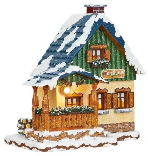 Forsthaus von Hubrig aus Holz und elektrisch beleuchtel