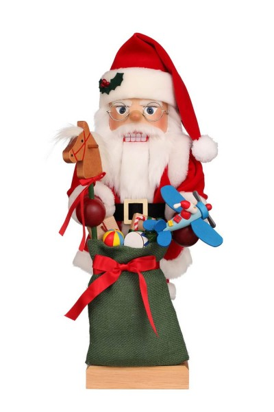 Nussknacker Weihnachtsmann mit Spielzeug, 47 cm, Christian Ulbricht GmbH & Co KG Seiffen/ Erzgebirge