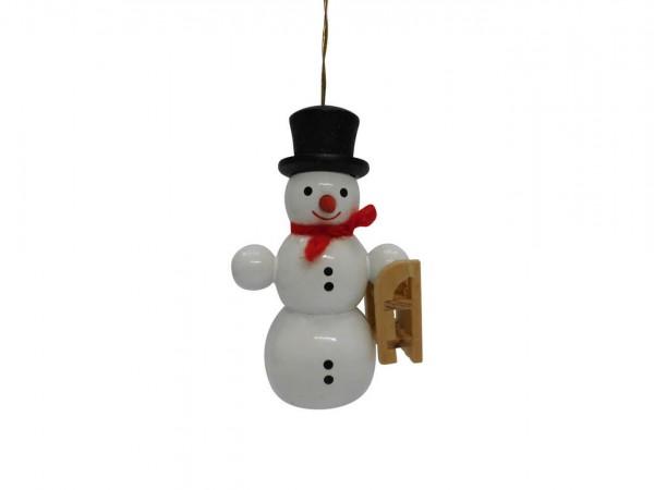 Schneemann mit Schlitten von Nestler-Seiffen