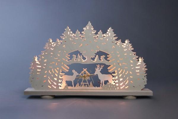 Schwibbogen Futtergrippe, 10 flammig, elektrisch beleuchtet, 52 x 32 x 6 cm von Weigla - Günter Gläser Deutschneudorf/ Erzgebirge Der …