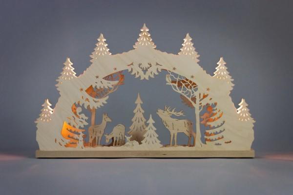 Schwibbogen Hirschfamilie, 52 x 32 x 6 cm von Weigla - Günter Gläser Deutschneudorf/ Erzgebirge Der …