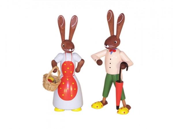 Osterhasenpaar, 12 cm von Volker Zenker aus Seiffen