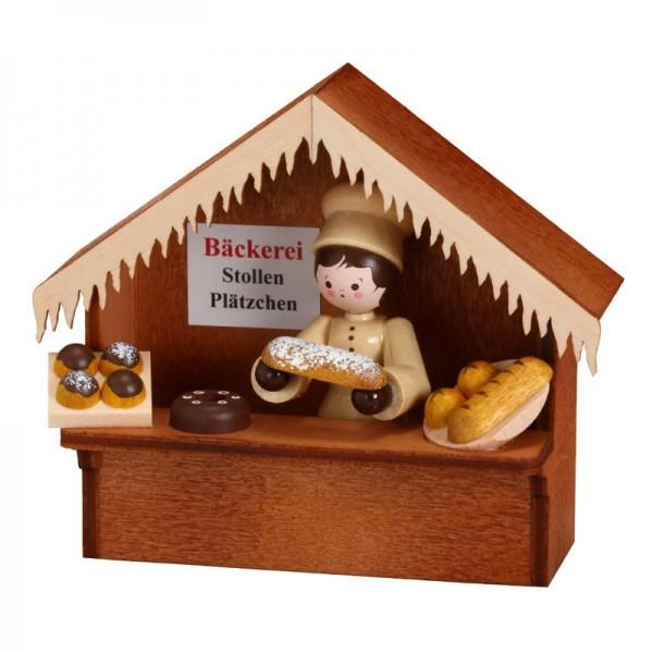 Marktstand Bäckerei, 8 cm, Romy Thiel Deutschneudorf/ Erzgebirge
