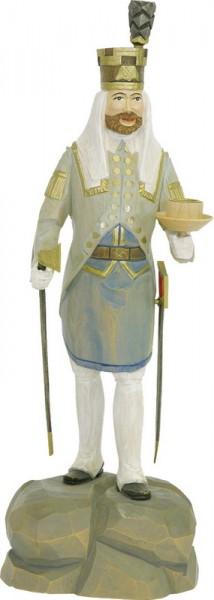 Blaufarbenältester, farbig, geschnitzt, in verschiedenen Größen