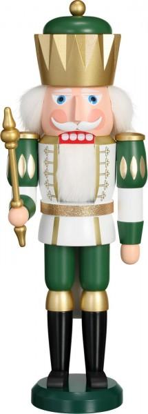 Darf ich vorstellen: Ihre Majestät der Nussknacker König in grün, 40 cm von der Seiffener Volkskunst eG Seiffen/ Erzgebirge. Ein stolzer König, …