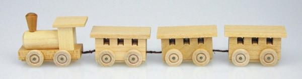 Mini - Holzeisenbahn, natur, 17,5 cm, Stephan Kaden holz.kunst Seiffen/Erzgebirge