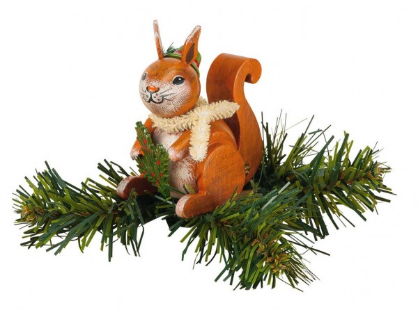 Christbaumschmuck von Hubrig Volkskunst Baumclipser Eichhörnchen