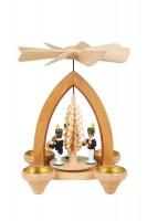 Vorschau: Weihnachtspyramide mit Bergleuten, 26 cm hergestellt von Heinz Lorenz_Bild1