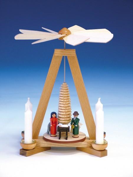 Weihnachtspyramide Christi Geburt, bunt, 23 cm, Knuth Neuber Seiffen/ Erzgebirge