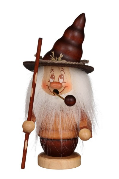 Räuchermännchen Miniwichtel mit Stab, der typischen Knubbelnase und dem freundlichen Gesicht von Christian Ulbricht GmbH & Co KG Seiffen/ Erzgebirge …