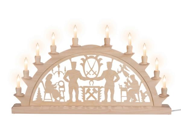 Schwibbogen Schwarzenberger, elektrisch beleuchtet mit Kleinschaftkerzen, 60 x 33 cm, 10 Kerzen, Nestler-Seiffen.com OHG Seiffen/ Erzgebirge