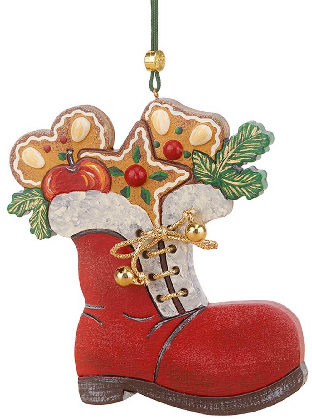 Christbaumschmuck von Hubrig Volkskunst mit dem Motiv Nikolausstiefel