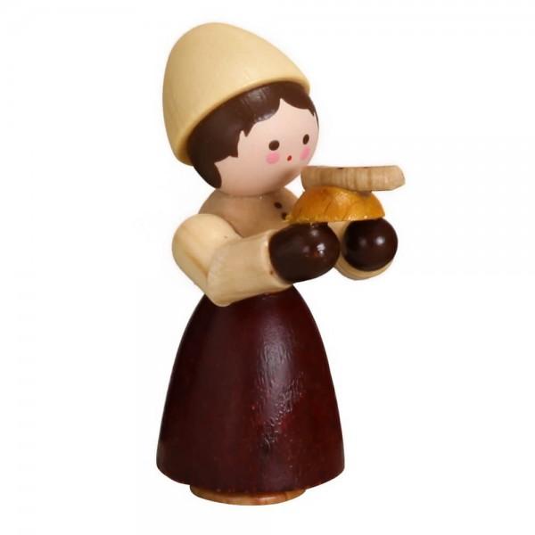 Dieses Mädchen mit Bratwurst, mini in natur von Romy Thiel Deutschneudorf/ Erzgebirge, hat großen Hunger. Bei diesem kalten Winterwetter schmeckt so eine …