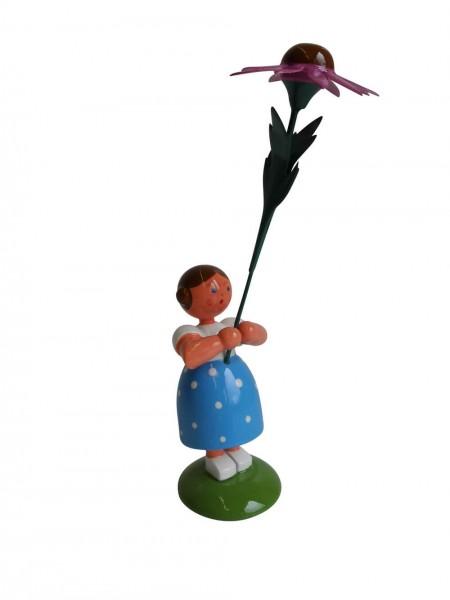 Blumenkinder - Sommerblumenkind Mädchen mit rotem Sonnenhut, 11 cm von WEHA-Kunst Dippoldiswalde/ Erzgebirge
