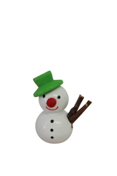 Nestler-Seiffen, Dekofigur Schneemann mit grünem Hut