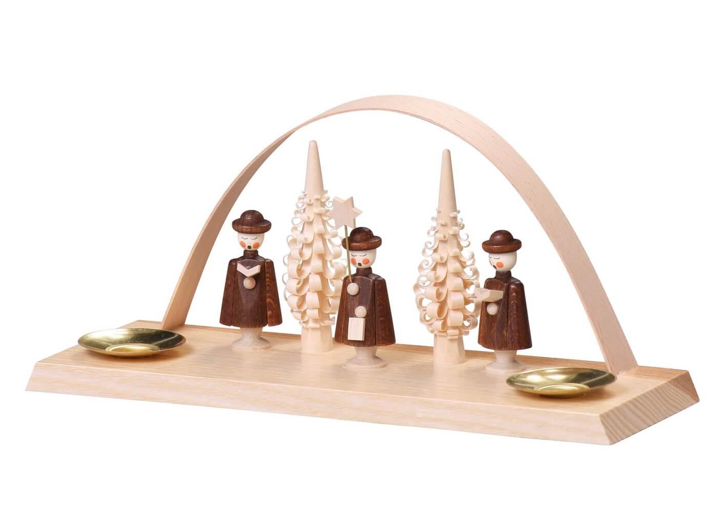 Kerzenhalter Schwibbogen mit Kurrende, 10 cm von Thomas Preißler