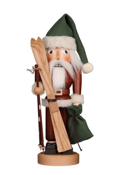 Klassik Nussknacker Weihnachtsmann mit Ski, 40 cm von Christian Ulbricht GmbH & Co KG Seiffen/ Erzgebirge