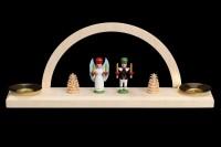 Vorschau: Minischwibbogen mit dem Motiv Engel und Bergmann für Wachskerzen von Nestler-Seiffen_Bild2