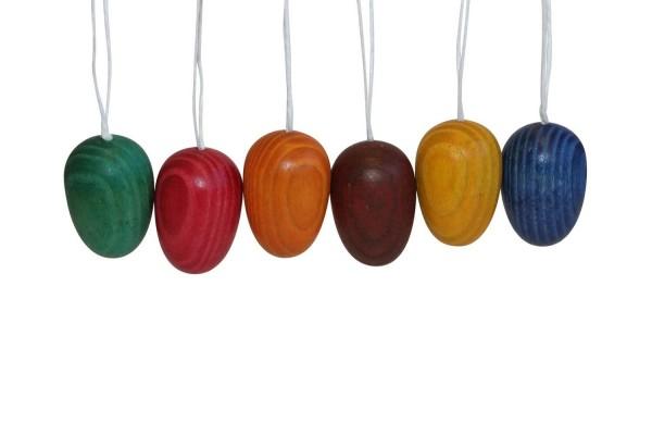 Ostereier, handbemalt, farbig, 3,6 cm, 6 Stück im Eierkarton von Nestler-Seiffen.com OHG Seiffen/ Erzgebirge
