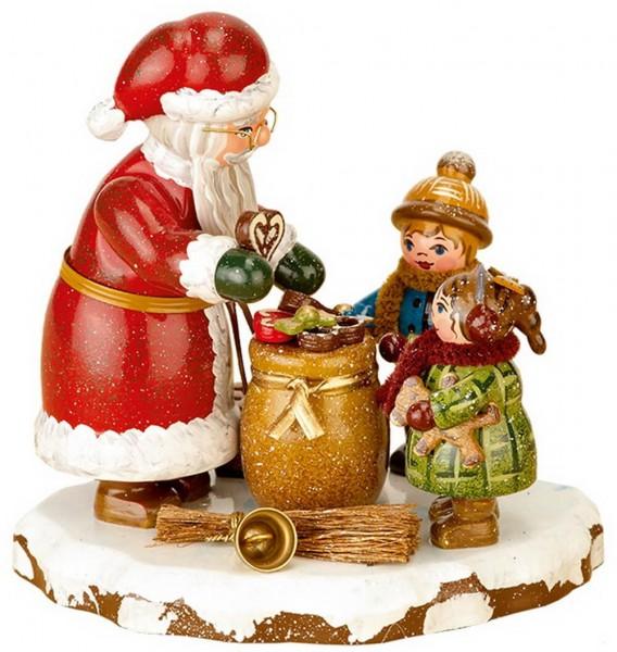 Winterkinder Danke lieber Weihnachtsmann von Hubrig Volkskunst GmbH Zschorlau/ Erzgebirge ist 9 cm groß.