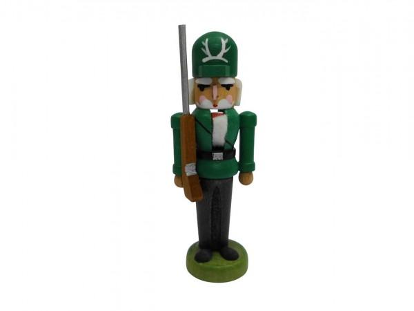 Miniaturnussknacker Förster grün, 7 cm, Seiffen/ Erzgebirge