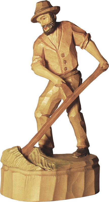 Bauer mit Sense, geschnitzt in verschiedenen Größen von Schnitzkunst aus dem Erzgebirge_Bild1