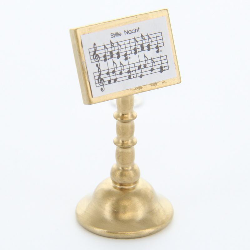 Notenständer gold Stille Nacht für Weihnachtsengel, 4,5 cm, Frieder & André Uhlig Seiffen/ Erzgebirge