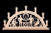Vorschau: Schwibbogen von Nestler-Seiffen mit dem Motiv Schwarzenberger, 60 cm, elektrisch beleuchtet mit 7 Spitzkerzen_Bild2