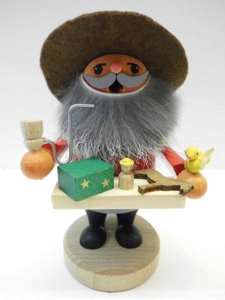 Räuchermännchen Spielzeugverkäufer von Karl Werner Sayda / Erzgebirge Was für ein toller Geselle in Zwerg oder auch Wichteloptik. Er trägt einen Filzhut und …