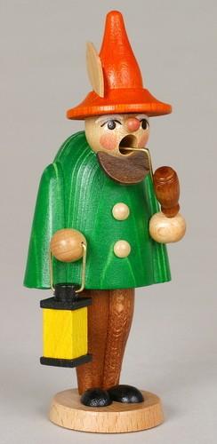 Räuchermann Wichtel, grün, 11 cm, Jan Stephani Seiffen/ Erzgebirge