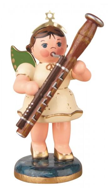 Hubrig Volkskunst Weihnachtsengel mit Fagott aus Holz