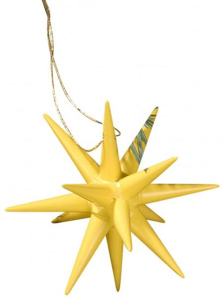 Christbaumschmuck Weihnachtssterne gelb, 4-teilig hergestellt von Albin Preißler_Bild1