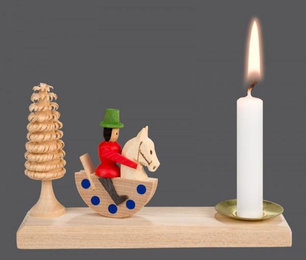 Weihnachtskerzenhalter Reiterlein, 15 x 4,3 cm, Nestler-Seiffen.com OHG Seiffen/ Erzgebirge