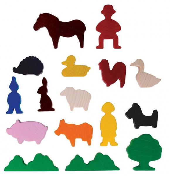 Mein kleiner Bauernhof von SINA Spielzeug Neuhausen/Erzgebirge, unterstützt mit den tollen Aufstellfiguren die Phantasie Ihres Kindes. 16 Aufstellfiguren in …