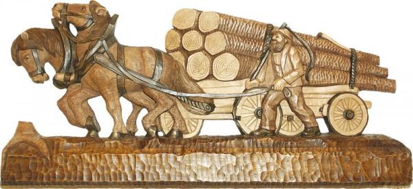 Holzfuhrwerk, geschnitzt von Schnitzkunst aus dem Erzgebirge_Bild2