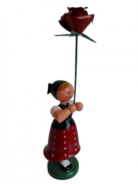 Blumenkinder - Blumenkind Sorbenmädchen, 11 cm von WEHA-Kunst Dippoldiswalde/ Erzgebirge