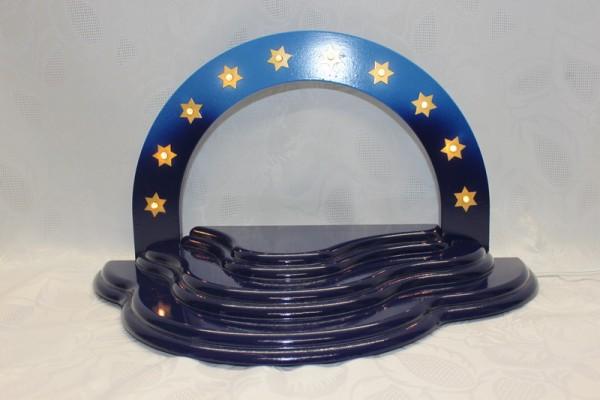 Wolke für Weihnachtsengel von Nestler-Seiffen in der Farbe dunkelblau/ hellblau