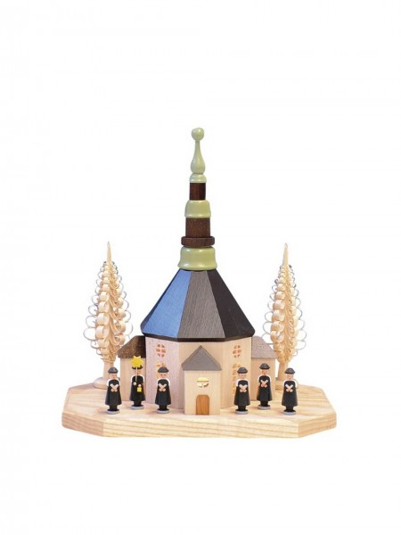Knuth Neuber, Sockelbrett Seiffener Kirche mit Kurrende
