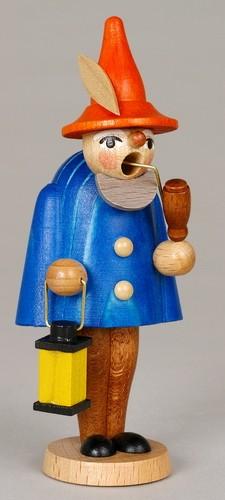 Räuchermann Wichtel, blau, 11 cm, Jan Stephani Seiffen/ Erzgebirge