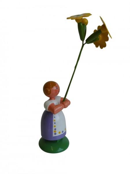 Blumenkinder - Feld- und Wiesenblumenmädchen Himmelschlüsselchen, 11 cm von WEHA-Kunst Dippoldiswalde/ Erzgebirge