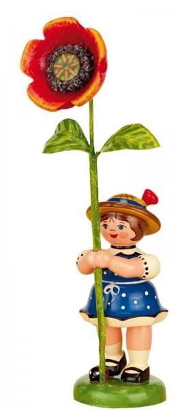 Blumenkind mit Mohnblume, 11 cm von Hubrig Volkskunst GmbH Zschorlau/ Erzgebirge