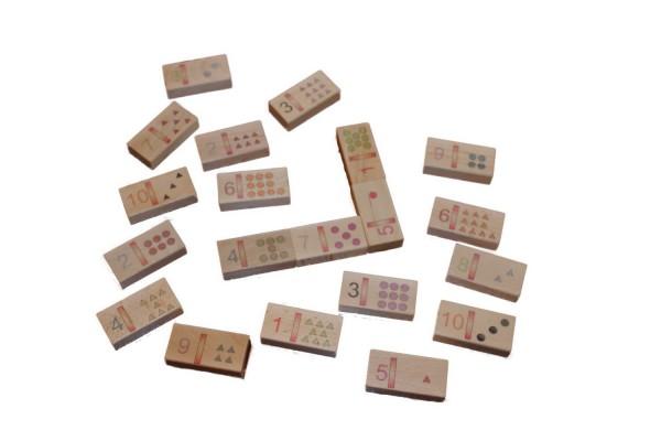 Zahlendomino ist ein Legespiel mit rechteckigen Spielsteinen, aus einheimischen Holz. Die Steine in diesem Spiel sind in zwei Felder geteilt, bei welchen …