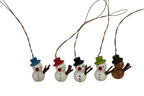 lustige Schneemänner, 5 - teilig von Nestler-Seiffen