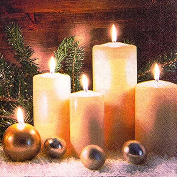 Weihnachtsservietten Candle Light von Home Fashion®