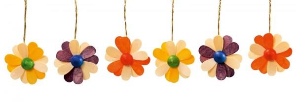 Frühlingsdeko Blüten, 6-teilig, zweifarbig, 3,5 cm von Thomas Preißler Seiffen/ Erzgebirge Größe: ca. 3,5 cm Material: heimische Hölzer, hochwertige Farben …