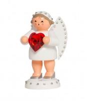 Vorschau: KWO Engel als Liebesbote mit rotem Swarovski Herz_Bild3