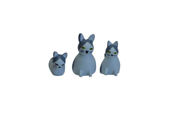 Katzenfamilie von Nestler-Seiffen, farbig, 3 - teilig _Bild2
