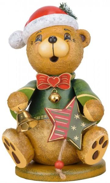 Räuchermännchen Teddy - Weihnachtsklaus von Hubrig Volkskunst GmbH Zschorlau/ Erzgebirge ist 20 cm groß.