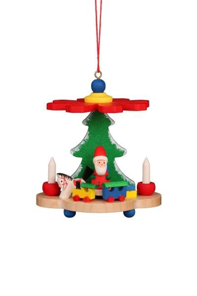 Christian Ulbricht Christbaumschmuck Pyramide mit Weihnachtsmann, 6 Stück