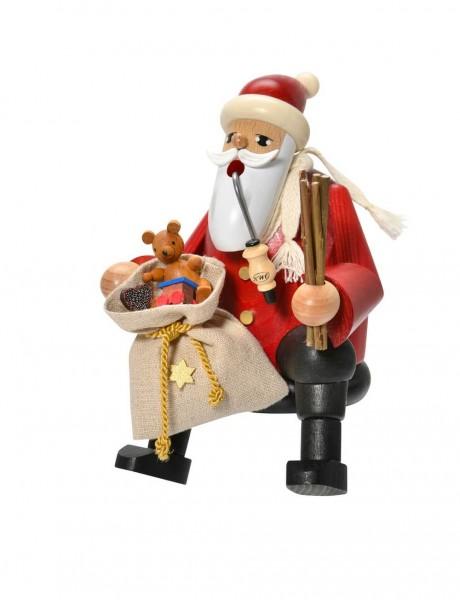 Räuchermännchen Kantenhocker Weihnachtsmann, 16 cm von KWO Kunstgewerbe-Werkstätten Olbernhau/ Erzgebirge